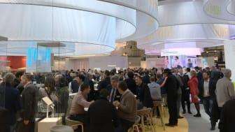 Välbesökt monter hos Somfy under R+T mässan i Stuttgart, Tyskland