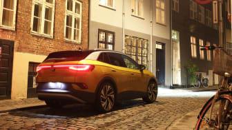 ID.4 er Volkswagens første 100 % elektriske SUV og forventes introduceret i Danmark til marts