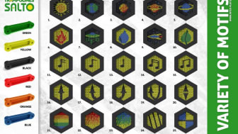 Man kan få sin trampolin i många olika färger och mönster!