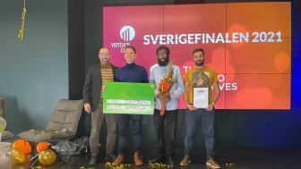 Avidnote prisas i Väst regionens greenroom under Venture Cups digitala Sverigefinal 2021.