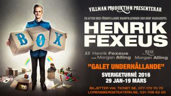 """Henrik Fexus """"BOX"""" gör succé på Maxim. Bara nio föreställningar kvar innan det blir dags för """"BOX"""" på Turné"""