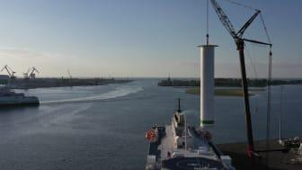 Scandlines rotor sail installation