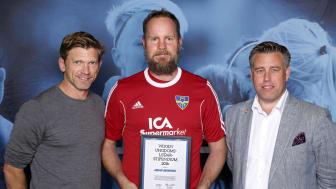 Johan Johnsson, Munka-Ljungby IF. Här tillsammans med Jesper Blomqvist och Mikael Tykesson.