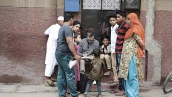 Studenterna fick tidigare i höst resa till Ahmedabad i Indien och på plats uppleva och studera vardagens villkor och levnadsmiljöer i en megastad. Foto: Leo Friedmann