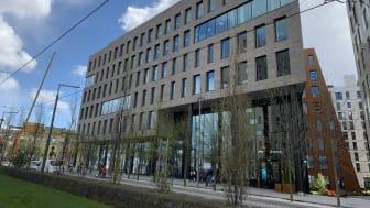 PWC og Microsoft er leietagere i Eufemia, som er BREEAM-NOR-sertifisert til Excellent-nivå. Foto: Bernt Aasenhuus/Vedal.