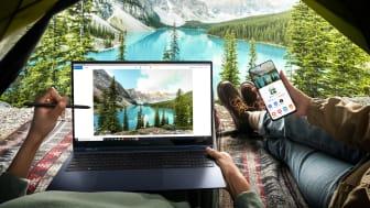 Galaxy Book Pro 360 5G er som mobiltelefonen din – alltid tilkoblet og klar for neste oppgave.