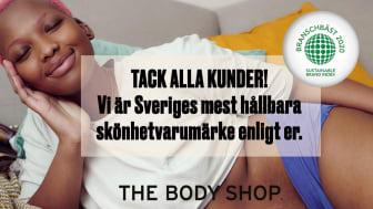 The Body Shop - Sveriges mest hållbara skönhetsvarumärke enligt stor varumärkesstudie!