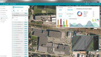 Bildet viser hvordan BIM/GIS brukes i ISY Prosjekt og hvordan forskjellige målparametere kan fremstilles for ulike løsninger. (Illustrasjon: Norconsult/ NoIS)