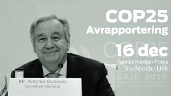 Pressinbjudan: COP25 – Fores avrapportering