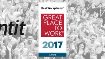 Frontit en av Europas Bästa Arbetsplatser 2017