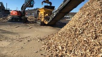 Hög kvalitet på returträ i ett steg - 25 ton/h.