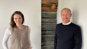 Prosjektleder Guro Varvin Hjelseng og Direktør forretningsområde Moss Jan Erik Kristiansen