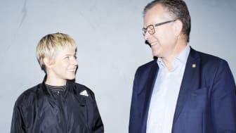 KTH:s rektor Peter Gudmundson och Robyn. Foto: Märta Thisner.