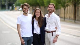 Eric Henriksson Martí, Johanna Nissén Karlsson och Gustav Larsson-Utas driver Vividye som spås revolutionera textilindustrin med sin innovativa färgningsteknik