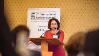 Ms Werner delivers a keynote address at the 7th International Railway Summit in Frankfurt