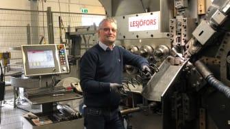 Henrik Berner, försäljningschef på Lesjöfors AB, deltar på matchmaking på årets Elmia Subcontractor Connect i november.