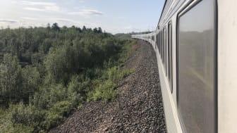 Tåg och fjäll. Det ska få symbolisera sommaren 2019, och det är i mitt tycke en fantastisk kombination.