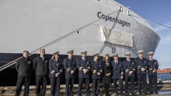 Scandlines' nye hybridfærge døbt M/F Copenhagen