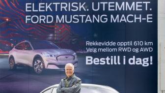 Einar Flåte Norges første Mustang Mach-E kunde 2021