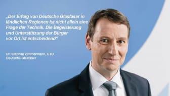 """Dr. Stephan Zimmermann: """"Deutsche Glasfaser besitzt einen Technologie- und Erfahrungsvorsprung, der schwer einzuholen ist. Unser Erfolg jedoch ist nicht allein eine Frage der Technik."""" Rechte: DG"""