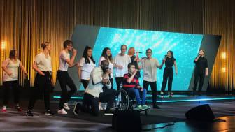 Bild från inspelningen av Funkis Sommarstream 2021. Foto: Örebro kommun.