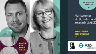 Brown Bag Lunch Talks: Hur kommer vårdkunderna söka innovativ vård 2030?