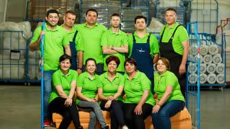 Echipa fabricii Sun Garden din Pucioasa, furnizor de saltele pentru JYSK