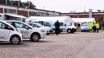 Bilar på utställning vid Malmö stads fordonsmässa 2012