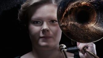 Trombonisten Amalia Hjortenhammar