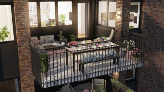 HSB brf Torpaterrassen3 balkong