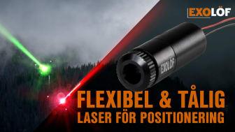 Flexibel & Tålig laser för positionering