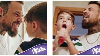 Danke Papa – Weil du immer für mich da bist. Milka versüßt den Vatertag mit limitierten Milka Pralinés.