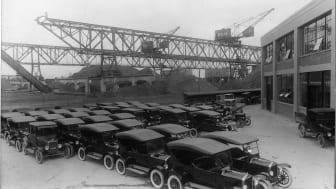 Ford T'er i Sydhavnen, ca. 1925