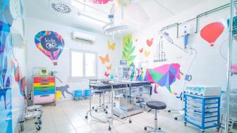 Biltema Foundation donerer 2,8 millioner til KidsOR for å lage barnetilpasset operasjonsstue i flyktningleir