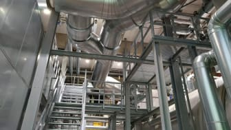 Alles neu: BHKW; Abhitzekessel und die entsprechenden Rohrleitungen hat ESW im Heizkraftwerk Minden modernisiert.