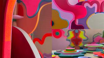 Delar av den nya konstnärliga gestaltningen VI VÄXER TILLSAMMANS av konstnären Saadia Hussain.