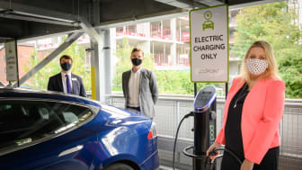 Mims Davies MP joins Govia Thameslink Railway to open a new EV charging hub in Haywards Heath