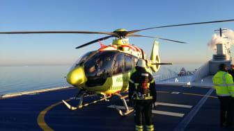 Helikopter-øvelse på M/F Berlin