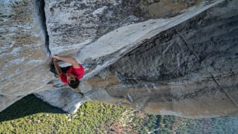 Alex Honnold i færd med at bestige El Capitan uden reb. Foto: National Geographic/Jimmy Chin