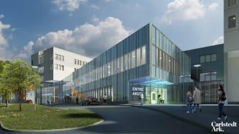 Carlstedt Arkitekter projekterar Mälarsjukhuset i Eskilstuna som kompletteras med ca 45 000 kvm nybyggnad för bl a akutmottagning, operation, intensivvård och förlossning.
