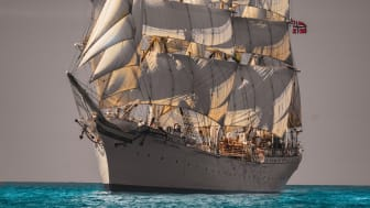 Tall ship Statsraad Lehmkuhl, of which Kongsberg Maritime in a long-term sponsor, will sail around the world as part of the One Ocean project to promote and research global sustainability