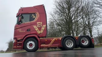 Vognmand Niels Hansens flot opbyggede Scania 650 S V8 Limited Edition.