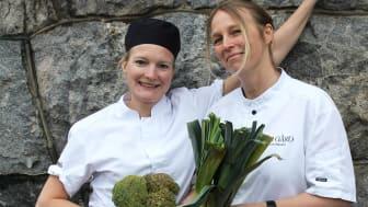Karin Sundgren och Karin Lindberg - kockarna bakom middagskonceptet No Waste, Just Taste på Vår Gård.