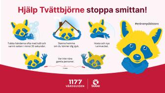 Kampanj Covid 19 Tvättbjörne_Liggande_1920x1080_200406