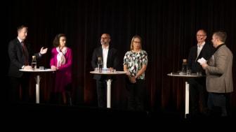 Från vänster i bild, Anders Ygeman, Maria Stockhaus, Haval van Drumpt, Catarina Wretman, Göran Hedström, Mats Sjödin