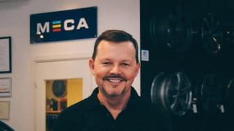 Ingemar Hjelmstierna, stolt ägare av Däck & Fälg Landvetter, den första MECA Bilservice att bli Godkänd Bilverkstad
