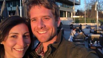 Anna Melker och Olof Jonsson är teamet bakom affärsidén Spit Lab.