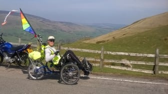 Local stroke survivor takes on 130 mile cycling challenge to Make May Purple for charity