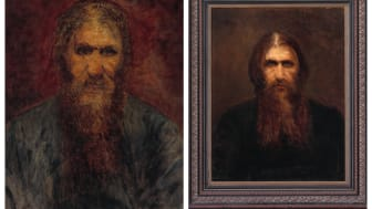Two rare portraits of Grigori Rasputin, where he personally sat as a model, are up for auction at Bruun Rasmussen's Russian Live Auction on 2 June in Copenhagen.
