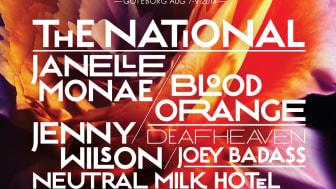 Flera internationella stjärnor till Way Out West 2014! The National, Janelle Monáe, Neutral Milk Hotel m.fl.